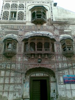 A giant historic building of Mughal era, currently used for a school named after Queen Victoria